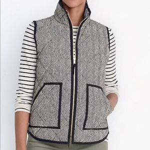 Like new J Crew houndstooth down vest